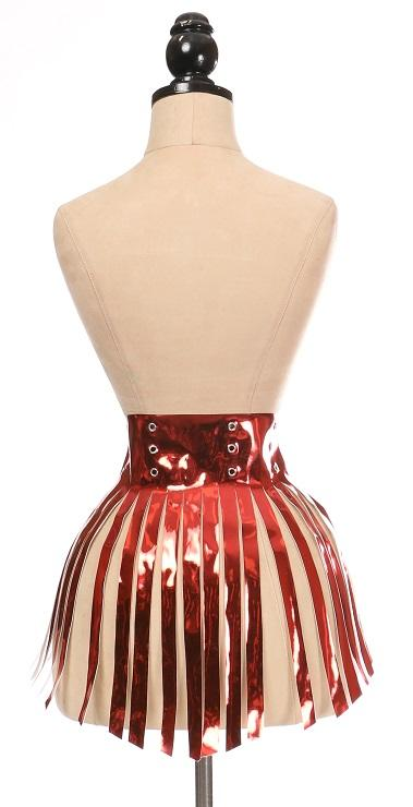 Red Metallic Fringe Skirt-Body Harnesses-Daisy Corsets-Unspoken Fashion