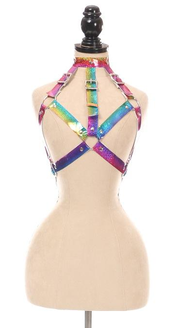 Rainbow Glitter Body Harness-Body Harnesses-Daisy Corsets-Unspoken Fashion