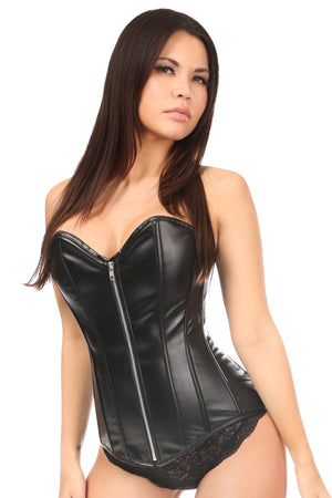 Lavish Wet Look Overbust Corset-Corsets-Daisy Corsets-Small-Unspoken Fashion