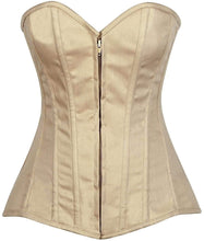 Load image into Gallery viewer, Daisy Corsets Lavish Beige Cotton Overbust Corset-Corsets-Daisy Corsets-Unspoken Fashion
