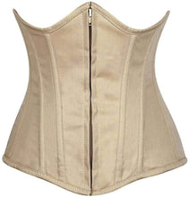 Load image into Gallery viewer, Daisy Corsets Lavish Beige Cotton Underbust Corset-Corsets-Daisy Corsets-Unspoken Fashion