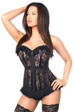 Load image into Gallery viewer, Daisy Corsets Lavish Black Sheer Lace Corset-Corsets-Daisy Corsets-Unspoken Fashion