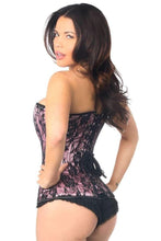 Load image into Gallery viewer, Daisy Corsets Lavish Pink Lace Front Zipper Corset-Corsets-Daisy Corsets-Unspoken Fashion
