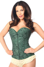 Load image into Gallery viewer, Daisy Corsets Lavish Plus Size Dark Green Lace Overbust Corset w/Zipper-Corsets-Daisy Corsets-Unspoken Fashion