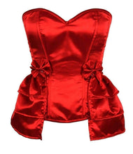 Load image into Gallery viewer, Daisy Corsets Lavish Plus Size Red Satin Corset w/Removable Snap on Skirt-Corsets-Daisy Corsets-Unspoken Fashion