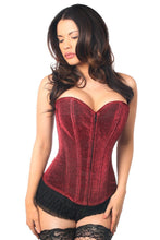 Load image into Gallery viewer, Daisy Corsets Lavish Red Glitter Front Zipper Corset-Corsets-Daisy Corsets-Unspoken Fashion