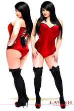 Load image into Gallery viewer, Daisy Corsets Lavish Red Satin Corset Romper-Corsets-Daisy Corsets-Unspoken Fashion