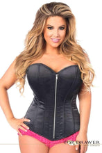 Load image into Gallery viewer, Daisy Corsets Top Drawer Black Satin Steel Boned Corset-Corsets-Daisy Corsets-Unspoken Fashion