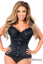 Load image into Gallery viewer, Daisy Corsets Top Drawer Black Steel Boned Underbust Corset w/Busk Closure-Corsets-Daisy Corsets-Unspoken Fashion