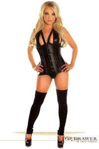 Daisy Corsets Top Drawer Faux Leather Steel Boned Underbust Corset-Corsets-Daisy Corsets-Unspoken Fashion