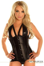 Load image into Gallery viewer, Daisy Corsets Top Drawer Faux Leather Steel Boned Underbust Corset-Corsets-Daisy Corsets-Unspoken Fashion