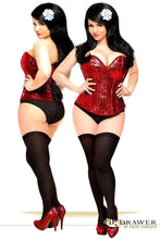 Load image into Gallery viewer, Daisy Corsets Top Drawer Red Sequin Steel Boned Corset-Corsets-Daisy Corsets-Unspoken Fashion