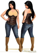 Load image into Gallery viewer, Daisy Corsets Top Drawer Steel Boned Distressed Faux Leather Underbust Corset Top-Corsets-Daisy Corsets-Unspoken Fashion