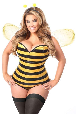Daisy Lavish 3 PC Queen Bee Corset Costume-Costumes-Daisy Corsets-S-Yellow-Unspoken Fashion