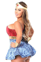 Load image into Gallery viewer, Daisy Lavish 3 PC Superhero Corset Dress Costume-Costumes-Daisy Corsets-Unspoken Fashion