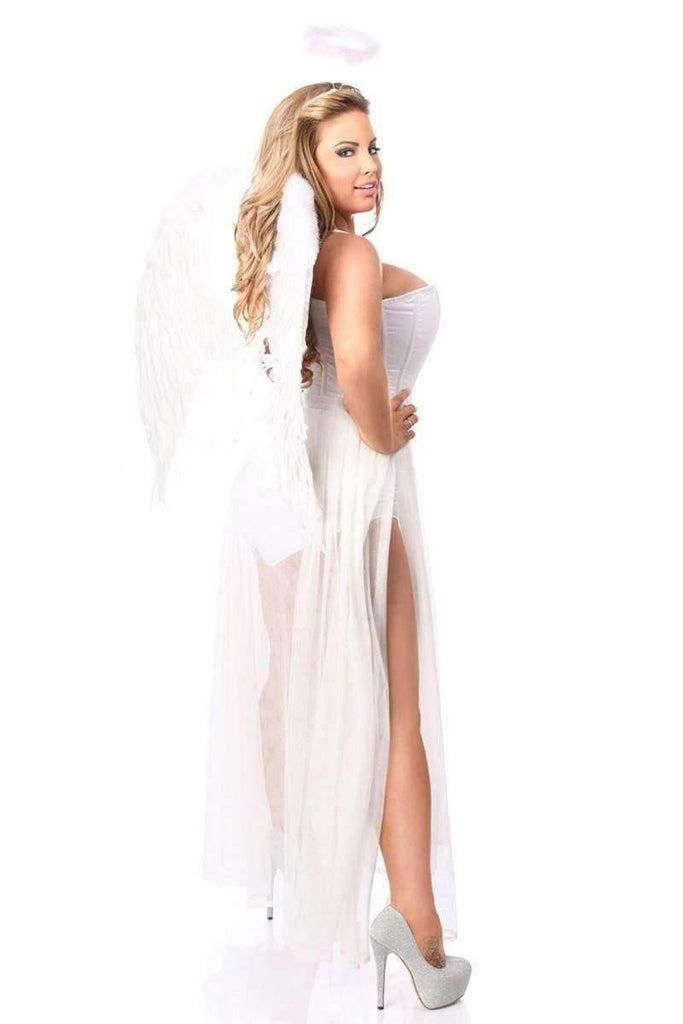 Daisy Lavish 4 PC Glitter Fantasy Angel Corset Costume-Costumes-Daisy Corsets-Unspoken Fashion