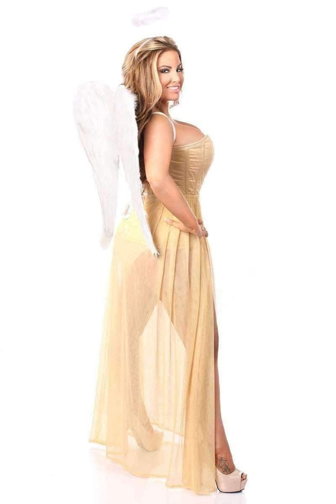 Daisy Lavish 4 PC Golden Angel Corset Costume-Costumes-Daisy Corsets-Unspoken Fashion