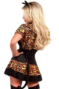 Daisy Lavish 4 PC Sexy Tigress Corset Costume-Costumes-Daisy Corsets-Unspoken Fashion