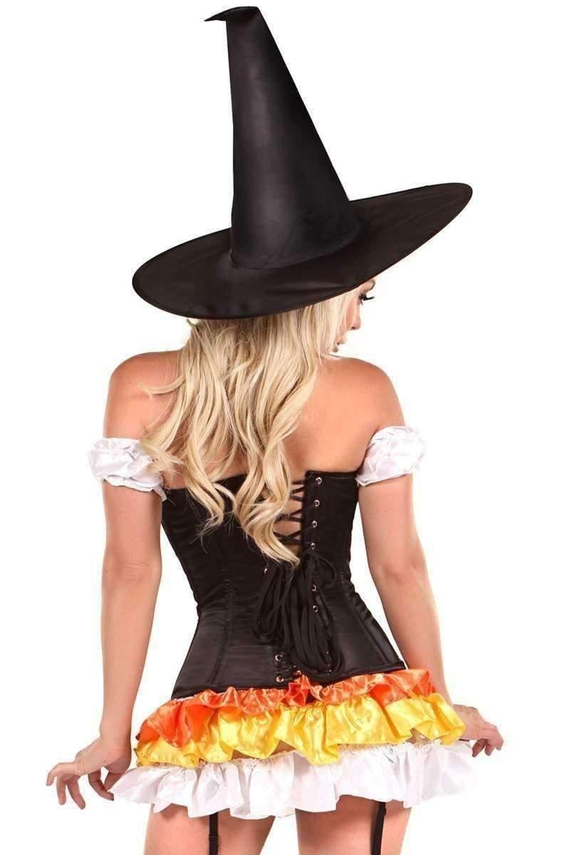 Daisy Lavish 4 PC Witch Corset Corset Costume-Costumes-Daisy Corsets-Unspoken Fashion