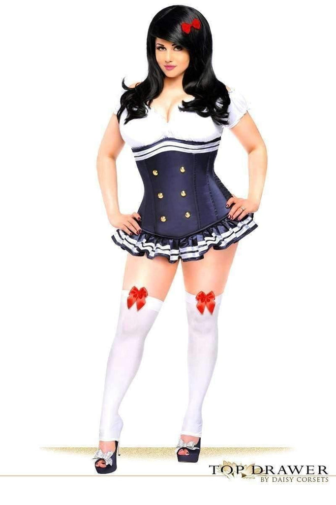Daisy Top Drawer 3 PC Pin-Up Officer Corset Costume-Costumes-Daisy Corsets-Unspoken Fashion