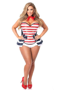 Daisy Top Drawer 4 PC Pin-Up Sailor Corset Costume-Costumes-Daisy Corsets-Unspoken Fashion