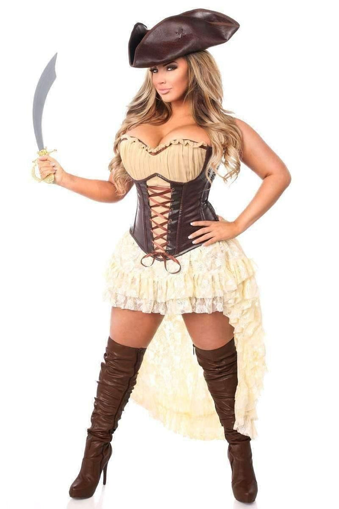 Daisy Top Drawer 4 PC Pirate Captain Corset Costume-Costumes-Daisy Corsets-Unspoken Fashion