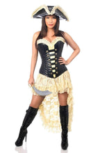 Load image into Gallery viewer, Daisy Top Drawer 4 PC Pirate Wench Corset Costume-Costumes-Daisy Corsets-S-Chocolate-Unspoken Fashion