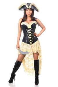 Daisy Top Drawer 4 PC Pirate Wench Corset Costume-Costumes-Daisy Corsets-S-Chocolate-Unspoken Fashion