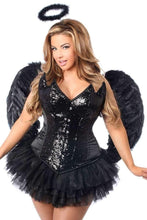 Load image into Gallery viewer, Daisy Top Drawer 4 PC Sequin Night Angel Corset Costume-Costumes-Daisy Corsets-Unspoken Fashion