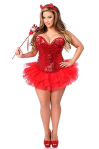 Daisy Top Drawer 4 PC Sexy Devil Corset Costume-Costumes-Daisy Corsets-Unspoken Fashion