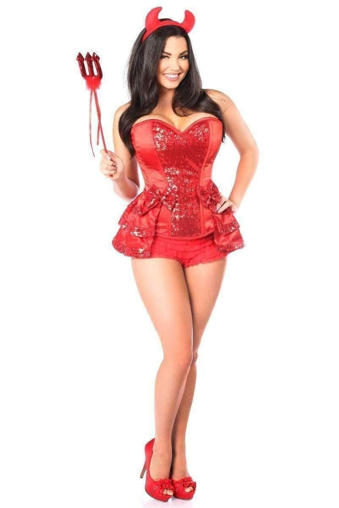 Daisy Top Drawer 5 PC Red Hot Devil Corset Costume-Costumes-Daisy Corsets-Unspoken Fashion