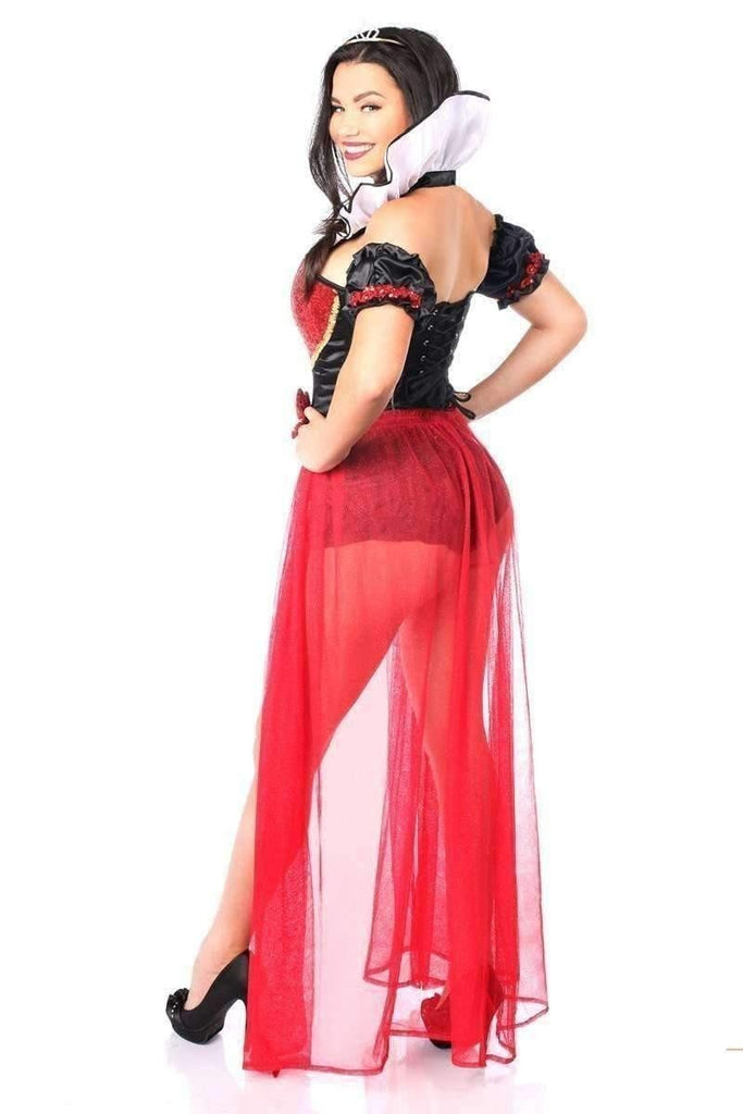 Daisy Top Drawer 5 PC Sexy Fairytale Red Queen Corset Costume-Costumes-Daisy Corsets-Unspoken Fashion