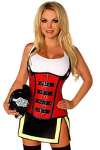 Load image into Gallery viewer, Daisy Top Drawer Five Alarm Firegirl Corset Costume-Costumes-Daisy Corsets-Unspoken Fashion