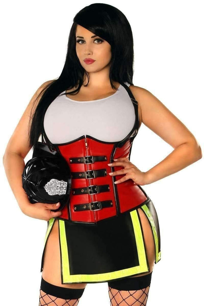 Daisy Top Drawer Five Alarm Firegirl Corset Costume-Costumes-Daisy Corsets-Unspoken Fashion