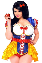 Load image into Gallery viewer, Daisy Top Drawer Poisoned Apple Corset Costume-Costumes-Daisy Corsets-S-Blue-Unspoken Fashion