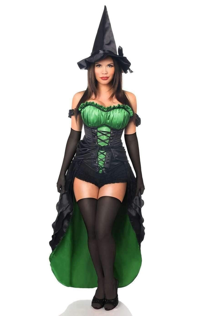 Daisy Top Drawer Premium 5 PC Spellbound Witch Corset Costume-Costumes-Daisy Corsets-S-Black-Unspoken Fashion