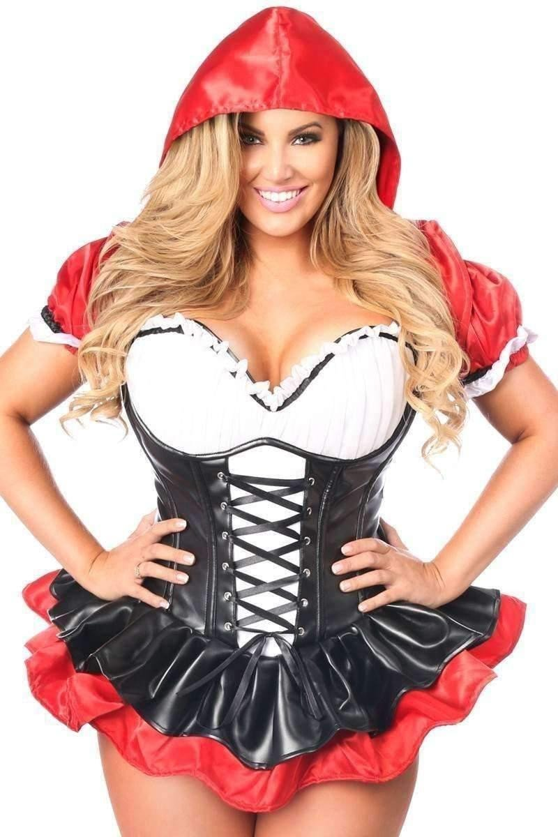 Daisy Top Drawer Premium Red Riding Hood Corset Dress Costume-Costumes-Daisy Corsets-Unspoken Fashion