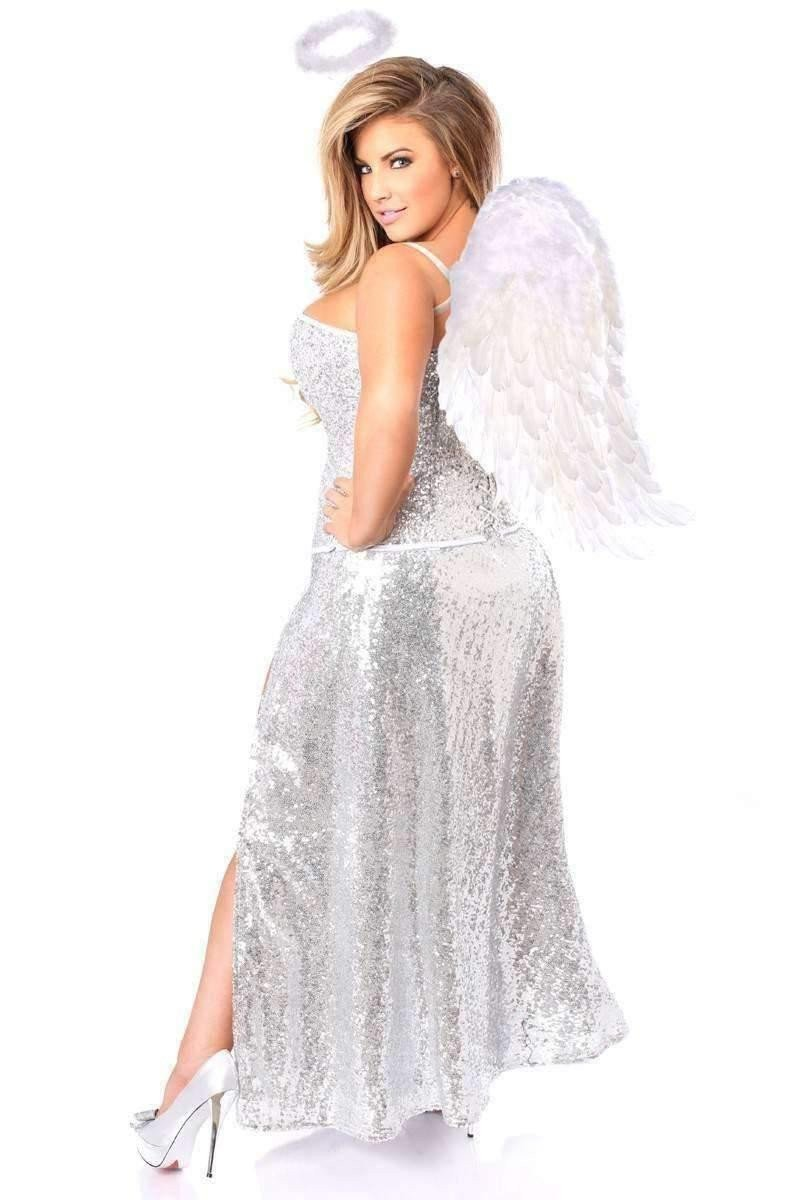 Daisy Top Drawer Premium Sequin Angel Corset Costume-Costumes-Daisy Corsets-Unspoken Fashion