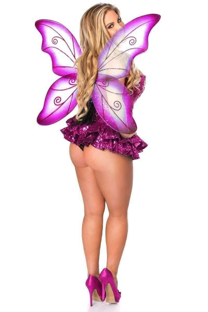 Daisy Top Drawer Premium Sequin Pink Fairy Corset Dress Costume-Costumes-Daisy Corsets-Unspoken Fashion
