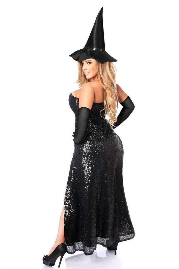 Daisy Top Drawer Premium Sequin Witch Corset Costume-Costumes-Daisy Corsets-Unspoken Fashion