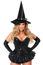 Load image into Gallery viewer, Daisy Top Drawer Premium Sequin Witch Corset Dress Costume-Costumes-Daisy Corsets-Unspoken Fashion