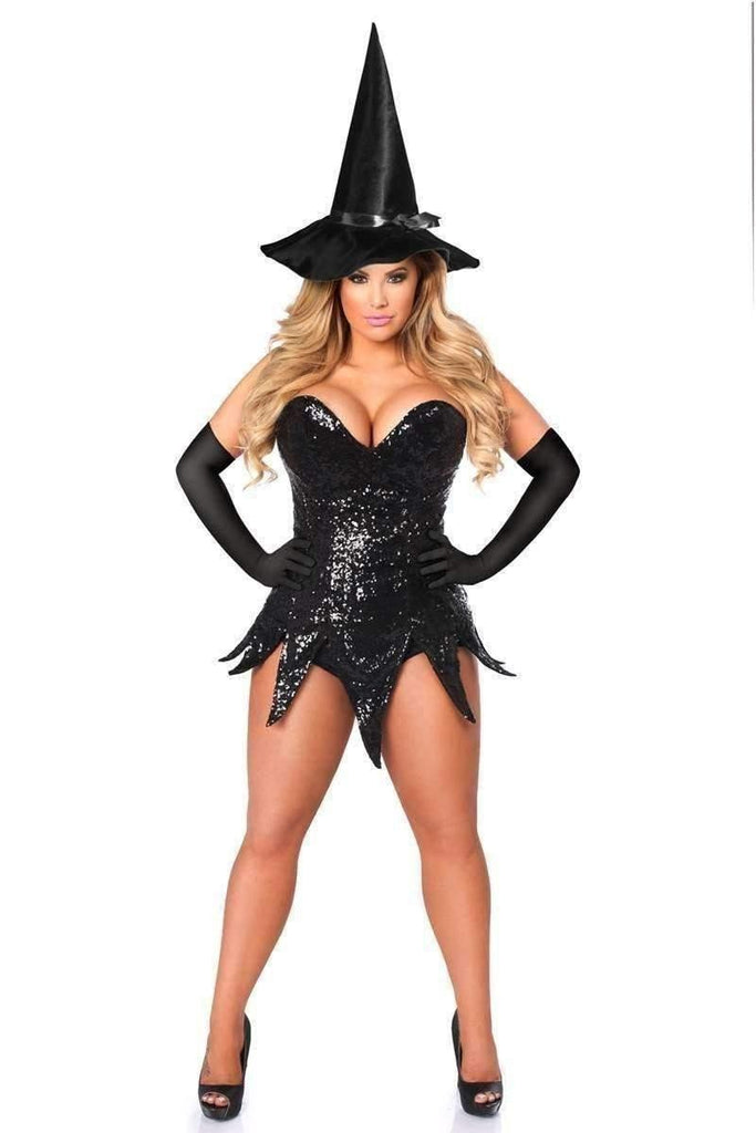 Daisy Top Drawer Sequin Witch Corset Dress Costume-Costumes-Daisy Corsets-Unspoken Fashion