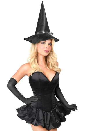 Daisy Top Drawer Witch Corset Costume-Costumes-Daisy Corsets-S-Black-Unspoken Fashion