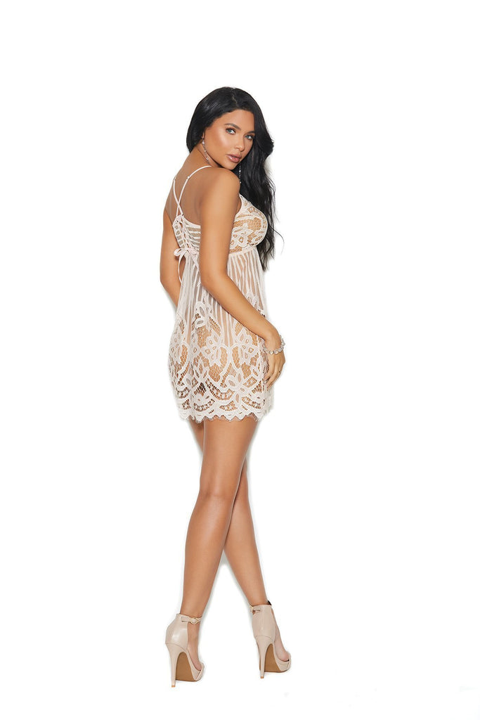 Elegant Moments Eyelash Lace Chemise-Chemises-Elegant Moments-Unspoken Fashion