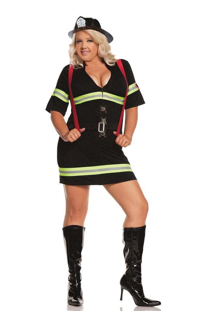 EM9679H Firemen's Hat - Costume Accessory - Elegant Moments-Costume Accessories-Elegant Moments-One Size-Black-Unspoken Fashion