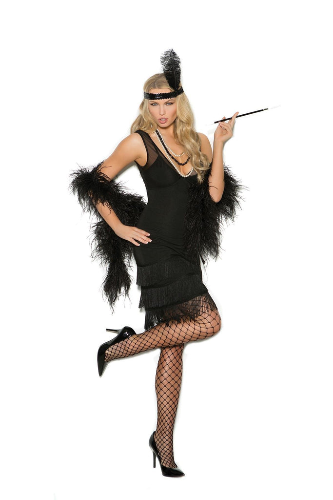 EM99051 Flapper Costume - Elegant Moments-Costumes-Elegant Moments-S-Black-Unspoken Fashion