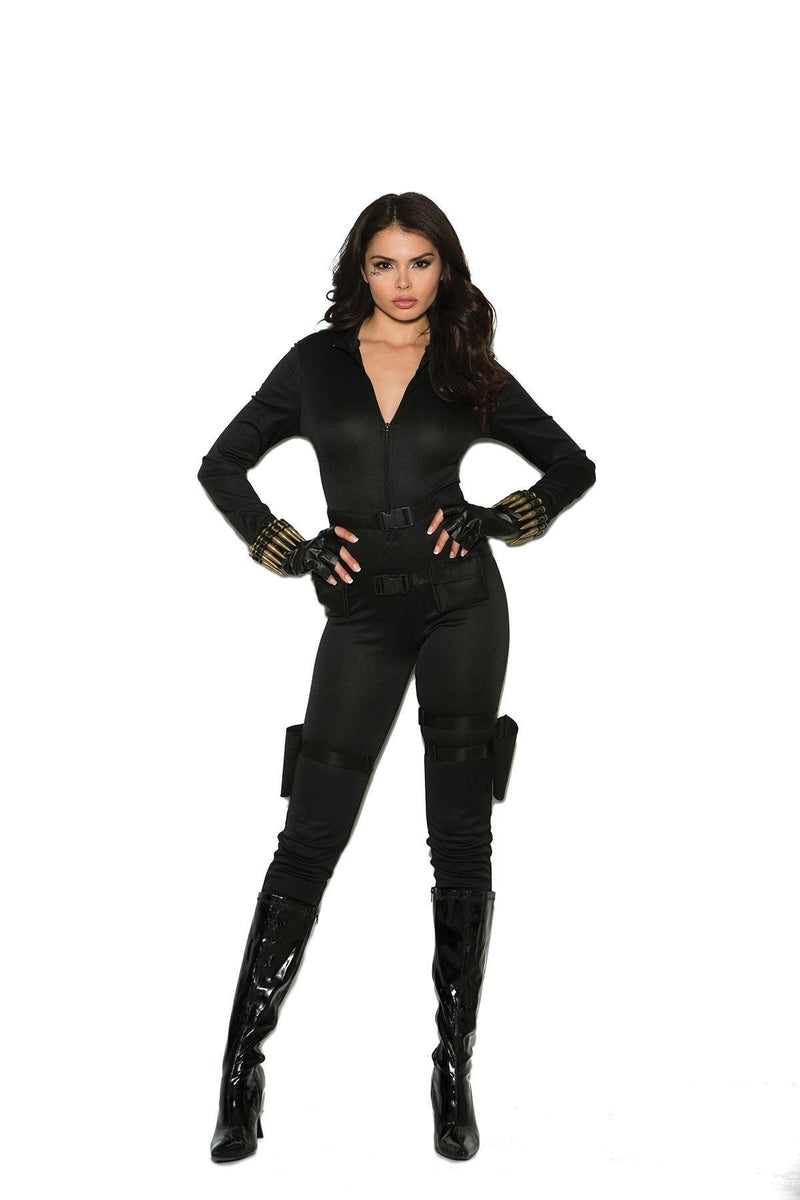EM99062 Secret Agent Costume - Elegant Moments-Costumes-Elegant Moments-S-Black-Unspoken Fashion