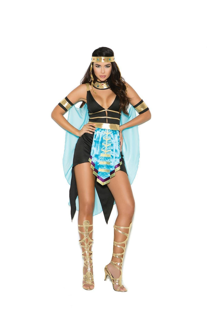 EM99073 Queen Of The Nile Costume - Elegant Moments-Costumes-Elegant Moments-S-Black/Turquoise-Unspoken Fashion