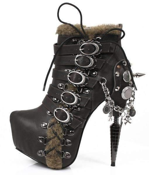 Hades Alternative Shoes Adler Black Boots-Boots-Hades Alternative Shoes-6-Black/Brown-Unspoken Fashion