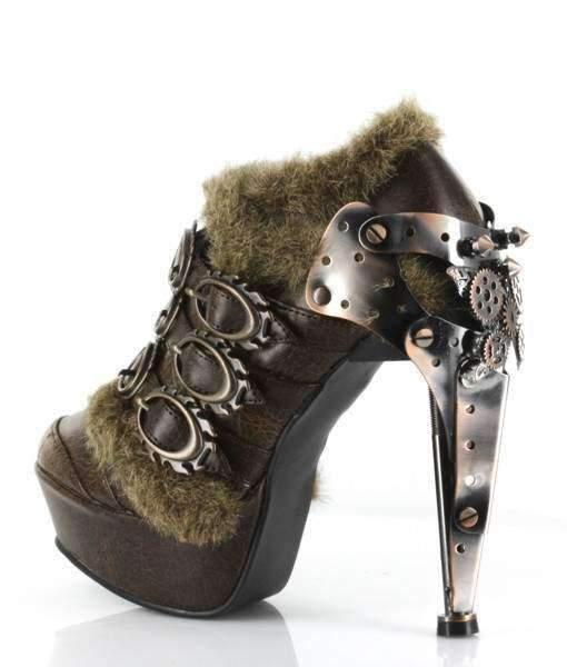 Hades Alternative Shoes Atriedes Brown Boots-Boots-Hades Alternative Shoes-Unspoken Fashion